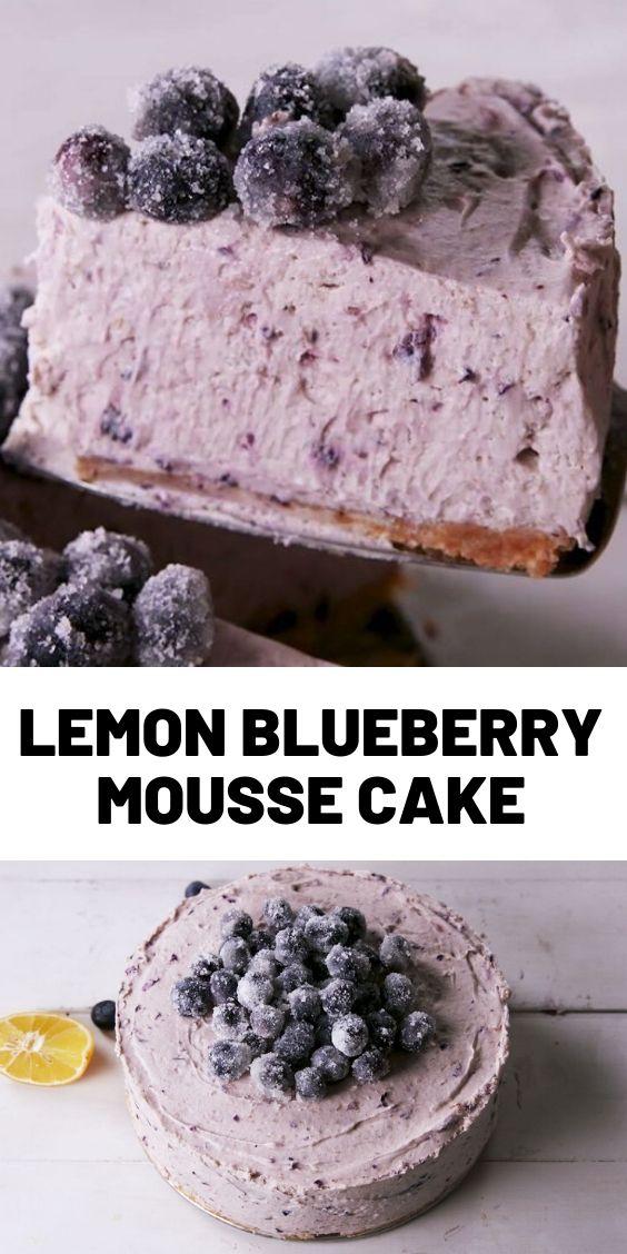 Lemon Blueberry Mousse Cake