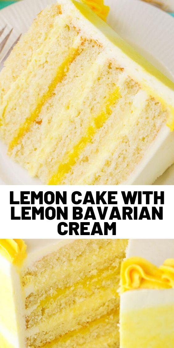 Lemon Cake with Lemon Bavarian Cream