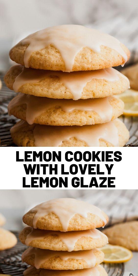 Lemon Cookies With Lovely Lemon Glaze