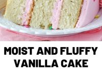 Moist and Fluffy Vanilla Cake