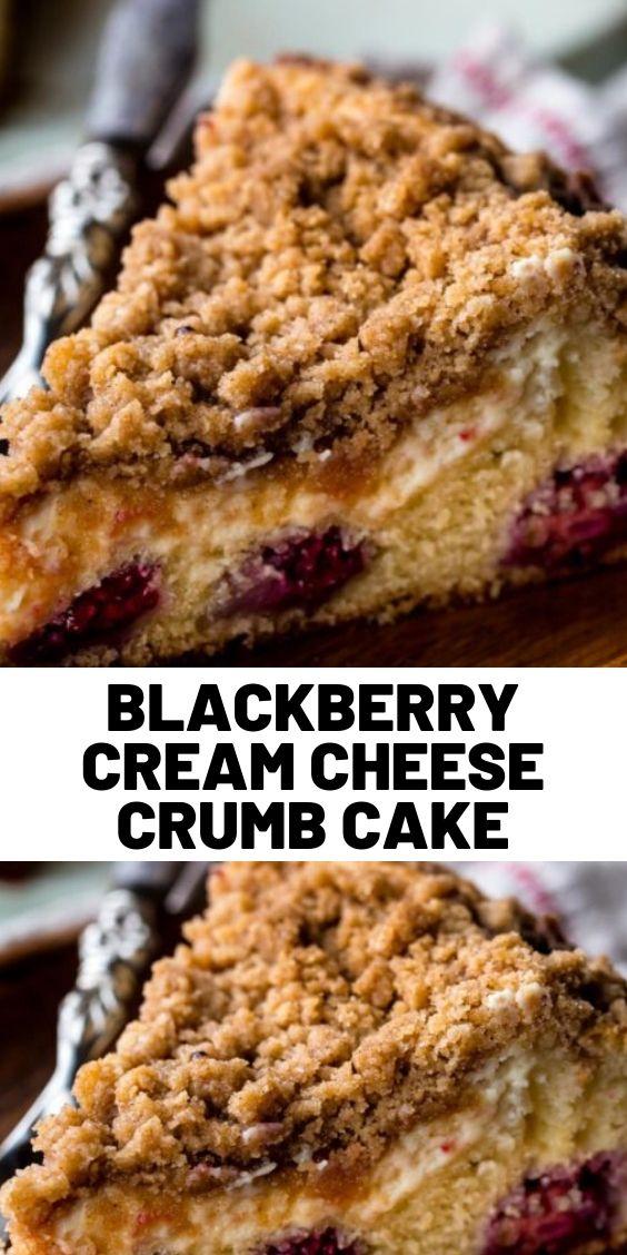 Blackberry Cream Cheese Crumb Cake