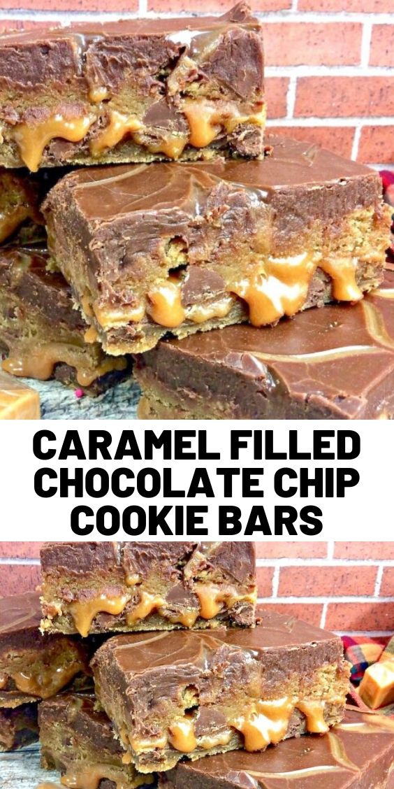 Caramel Filled Chocolate Chip Cookie Bars