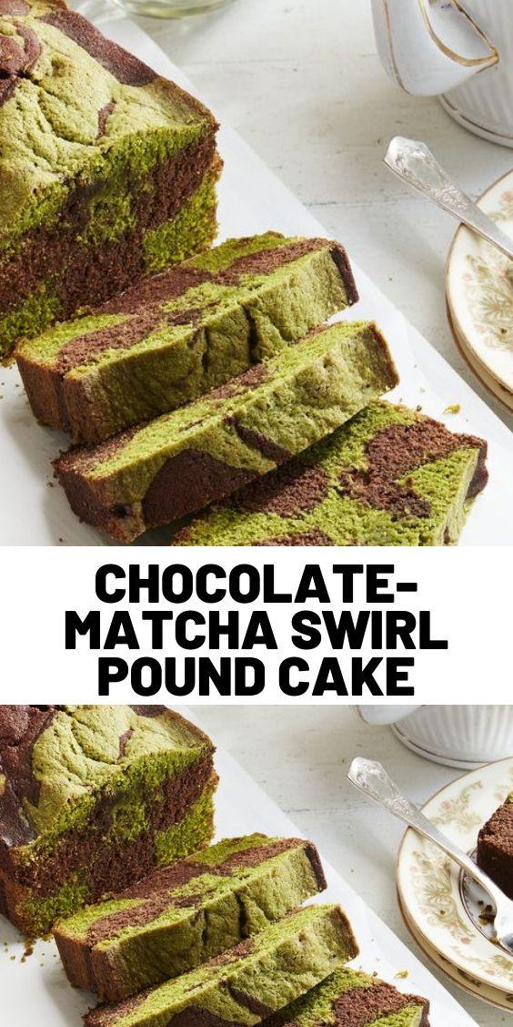 Chocolate-Matcha Swirl Pound Cake