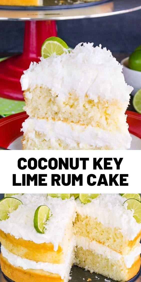Coconut Key Lime Rum Cake