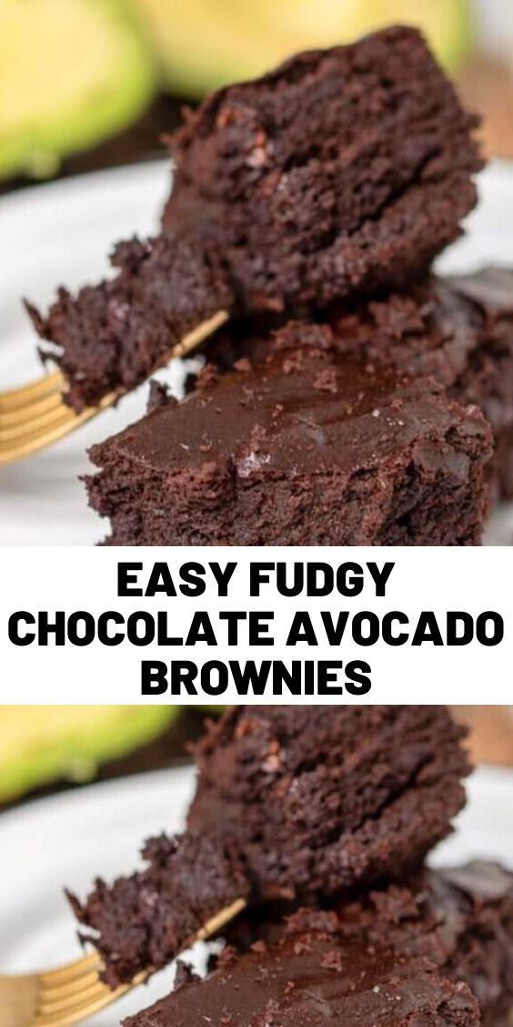 Easy Fudgy Chocolate Avocado Brownies
