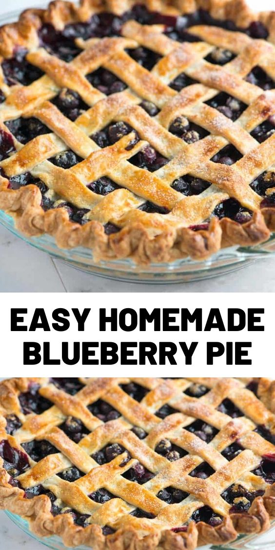 Easy Homemade Blueberry Pie