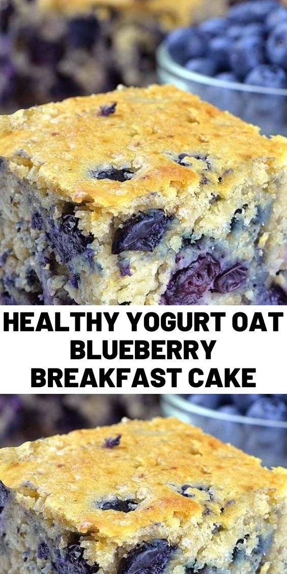 Healthy Yogurt Oat Blueberry Breakfast Cake