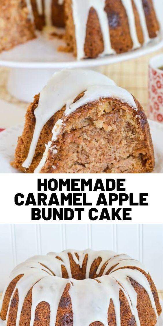 Homemade Caramel Apple Bundt Cake
