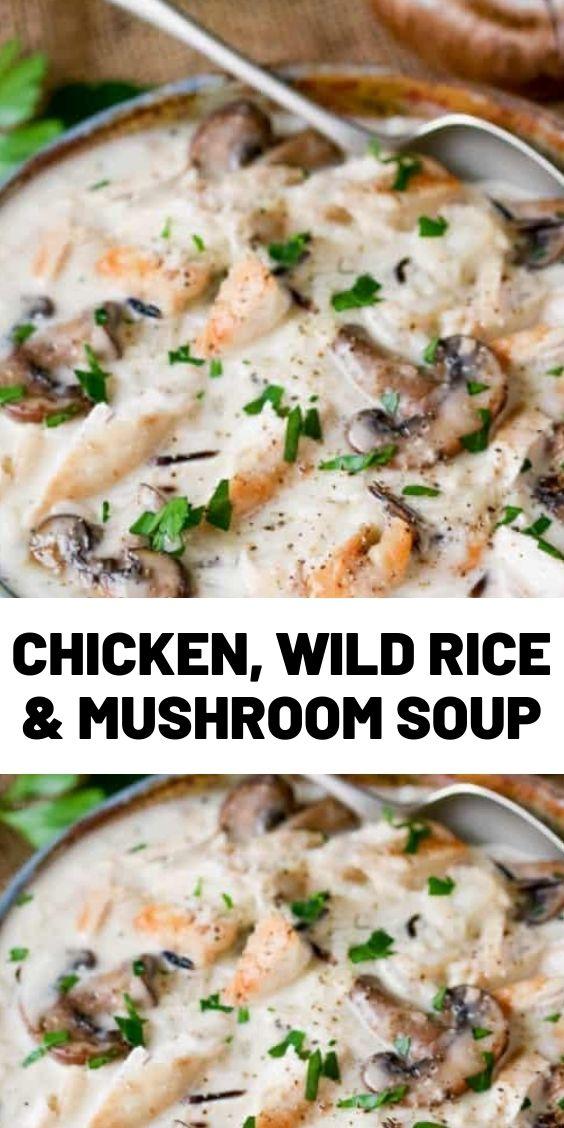 Chicken, Wild Rice & Mushroom Soup
