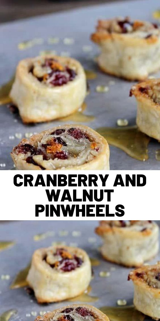 Cranberry and Walnut Pinwheels