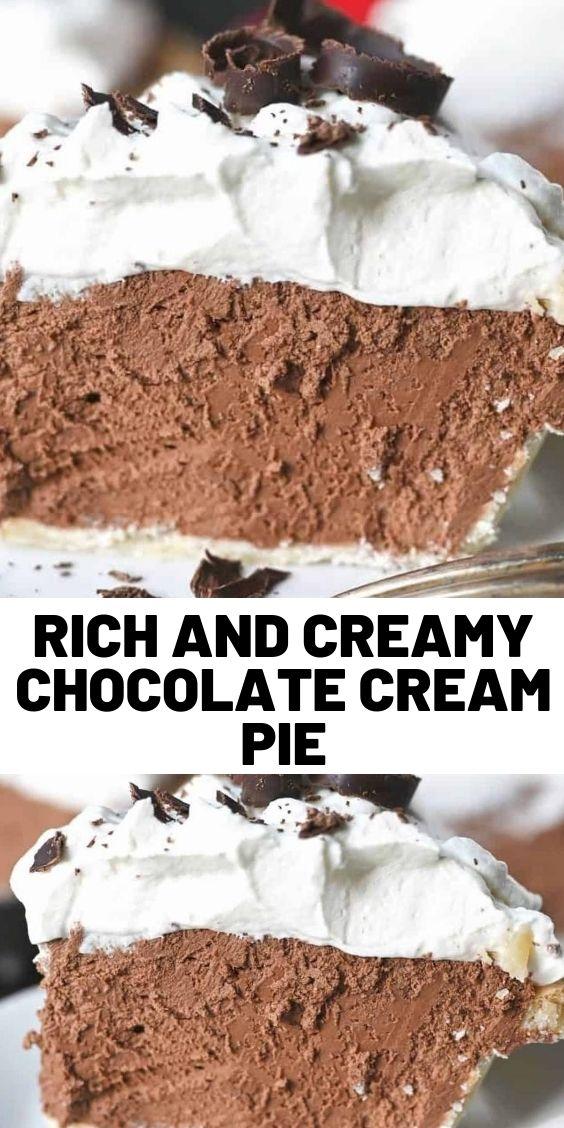Rich And Creamy Chocolate Cream Pie